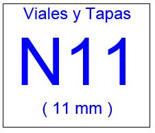 Viales , Tapas y Septas N11 ( 11 mm )