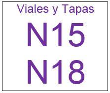 Viales , Tapas y septas N15 N 18