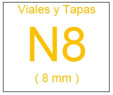 Viales , Tapas y Septas N8 ( 8 mm )
