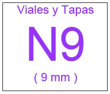 Viales , Tapas y Septas N9 ( 9 mm )